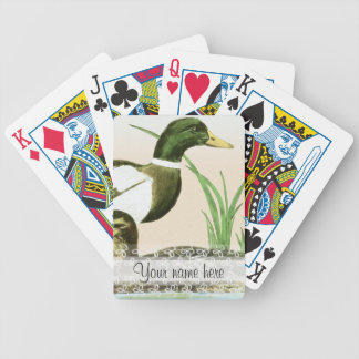 Male Mallard Duck Painting Bicycle Playing Cards