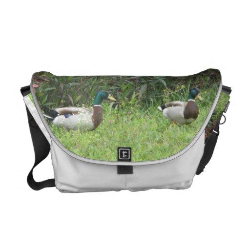 Male Mallard Ducks Rickshaw Messenger Bag