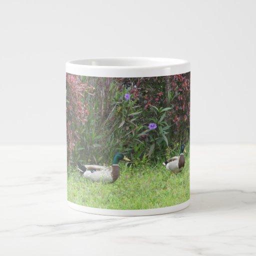 Male Mallard Ducks Specialty Mug 20 Oz Large Ceramic Coffee Mug