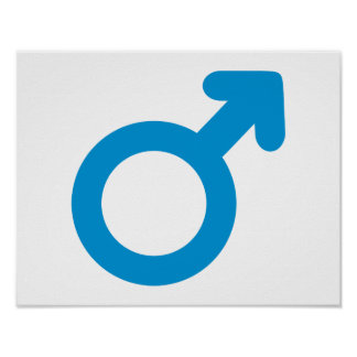 Male man icon poster