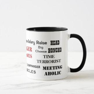 Male Manager Nicknames and Cheeky Job Titles Mug