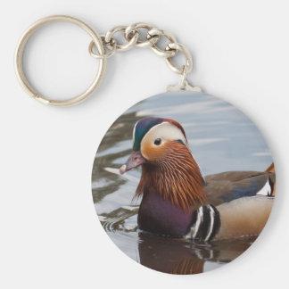 Male Mandarin Duck Basic Round Button Keychain