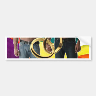 Male Marriage Bumper Sticker