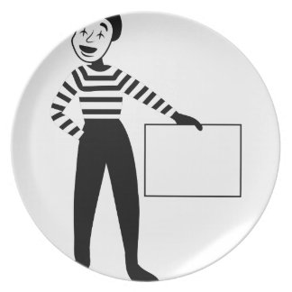 Male Mime Party Plates