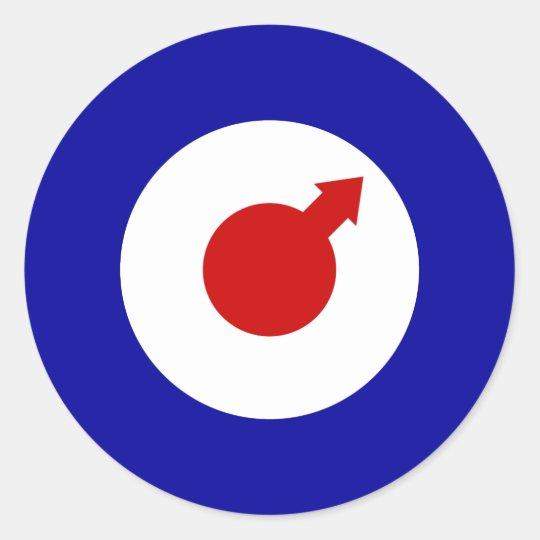 Male Mod Round Sticker