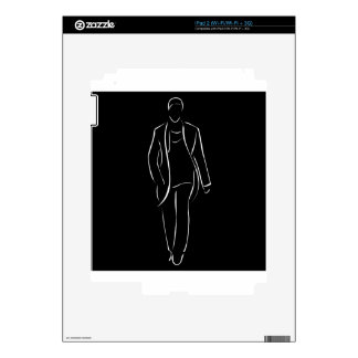 male model on fashion show iPad 2 decals