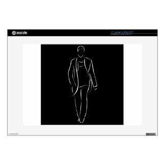male model on fashion show laptop skins