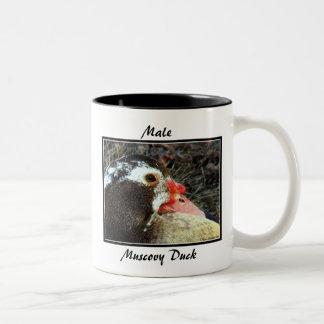 Male Muscovy Duck Two-Tone Coffee Mug