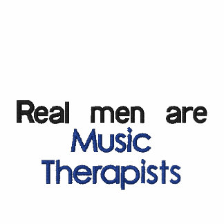male music therapy polo shirt