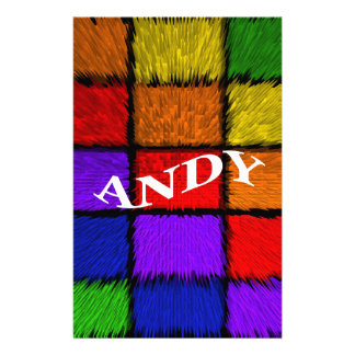MALE NAMES (Andy) Stationery
