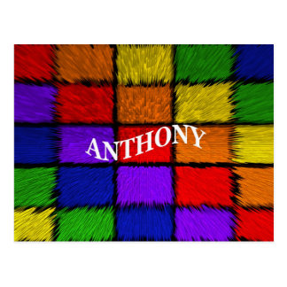 MALE NAMES (Anthony) Postcard