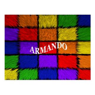 MALE NAMES (Armando) Postcard