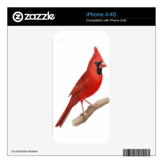 Male Northern Cardinal Zazzle Skin Skin For iPhone 4S
