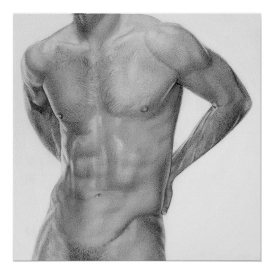 Man nude poster