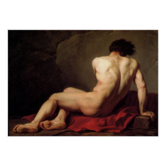 Male Nude Known As Patroclus Poster