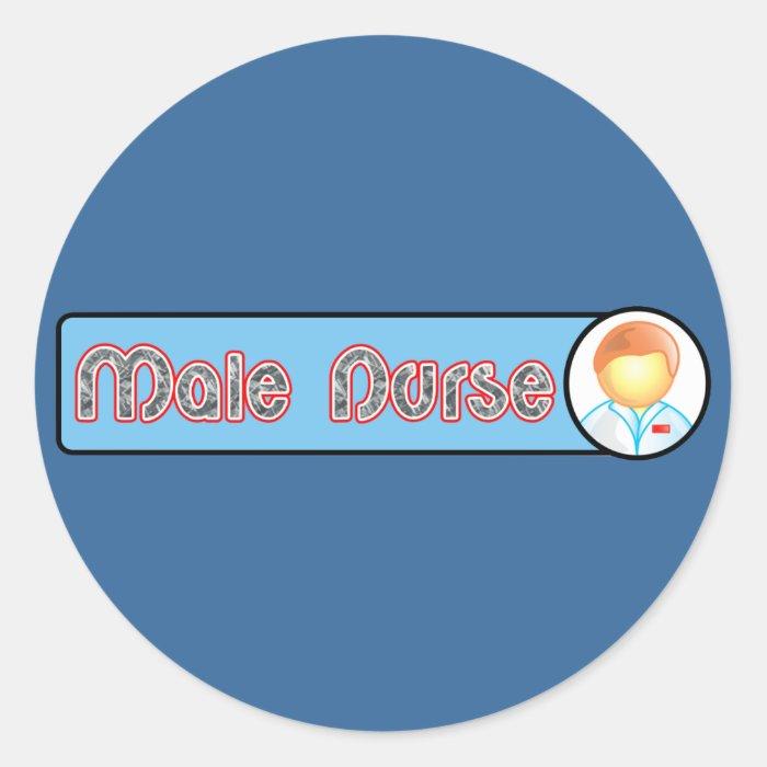 Male Nurse 2 Classic Round Sticker