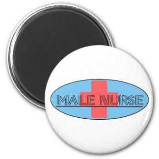 Male Nurse 2 Inch Round Magnet