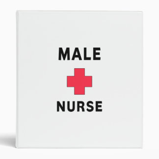 Male Nurse 3 Ring Binder