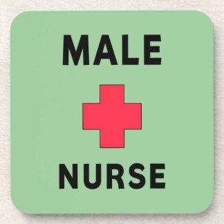 Male Nurse Beverage Coaster