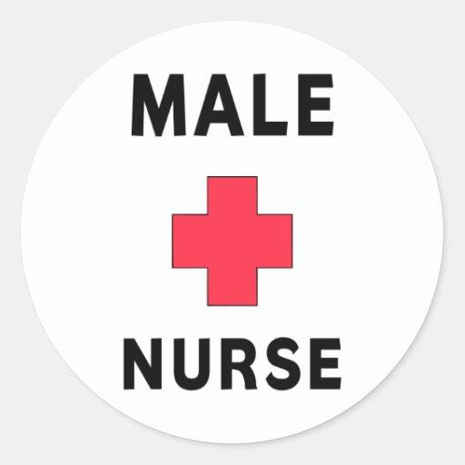 Male Nurse Classic Round Sticker