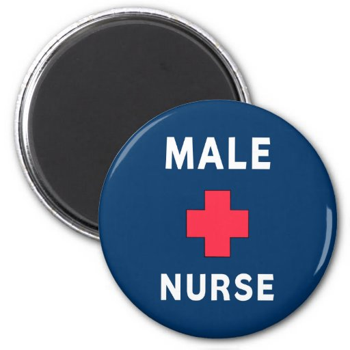 Male Nurse Fridge Magnets