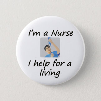 Male Nurse Pinback Button