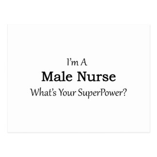 Male Nurse Postcard