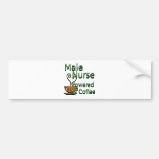 Male Nurse Powered by Coffee Bumper Sticker