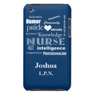 Male Nurse Pride/L.P.N./Personalize Name iPod Touch Case
