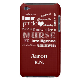 Male Nurse Pride/R.N.+Personalize Name iPod Touch Case-Mate Case
