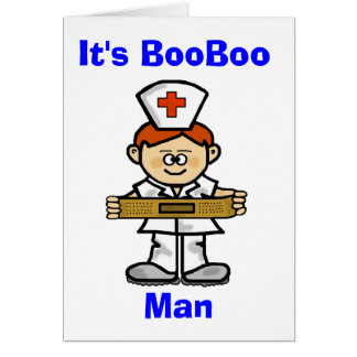 Male Nurse Red Hair Greeting Card to Customize