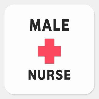 Male Nurse Square Stickers