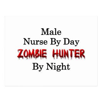 Male Nurse/Zombie Hunter Postcard
