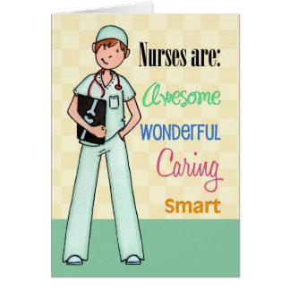 Male Nurses Are Awesome - Nurses Day Card