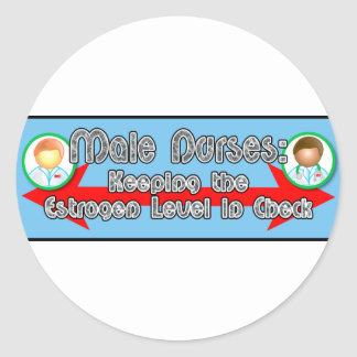 Male Nurses: Classic Round Sticker