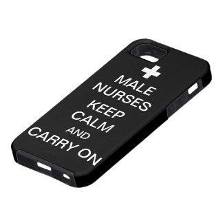Male Nurses Keep Calm /Coal Black iPhone 5 Case