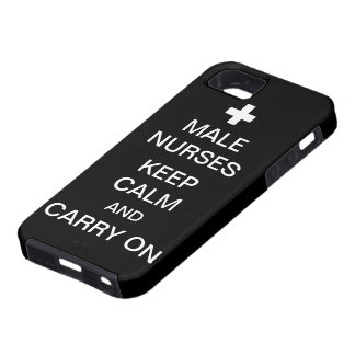 Male Nurses Keep Calm /Coal Black iPhone SE/5/5s Case