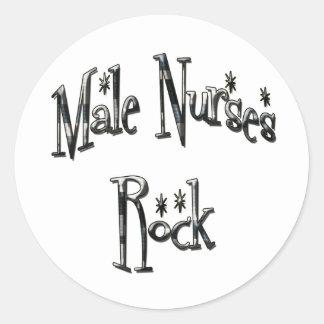 Male Nurses Rock Round Sticker