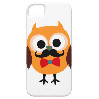 Male Owl with Black Mustache iPhone 5 Cases