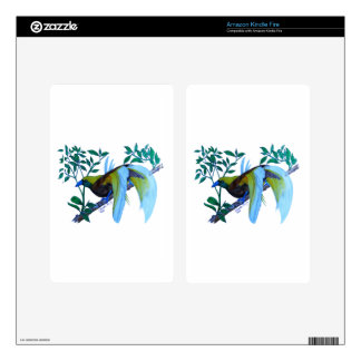 Male Paradise Bird Kindle Fire Decal