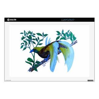 Male Paradise Bird Laptop Skin