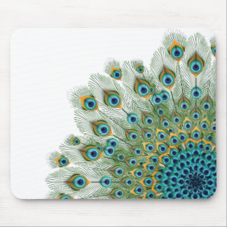 Male Peacock Colorful Mandala Mouse Pad