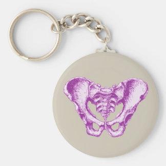 Male Pelvis Purple Keychain