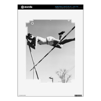 Male Pole Vaulter Decal For iPad 3