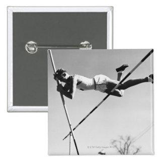 Male Pole Vaulter Pinback Button