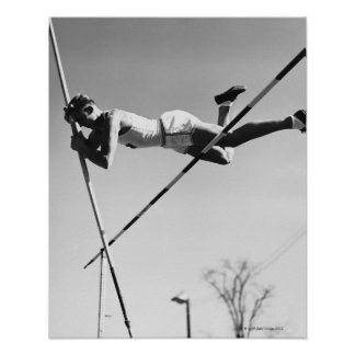 Male Pole Vaulter Poster