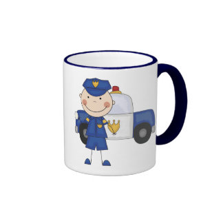 Male Police Officer Tshirts and Gifts Coffee Mug