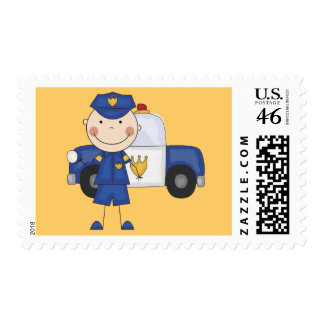 Male Police Officer Tshirts and Gifts Stamp