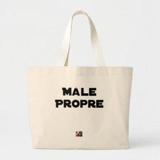 MÂLE-PROPRE - Word games - François City Large Tote Bag