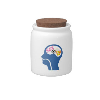 Male Psyche Candy Jar